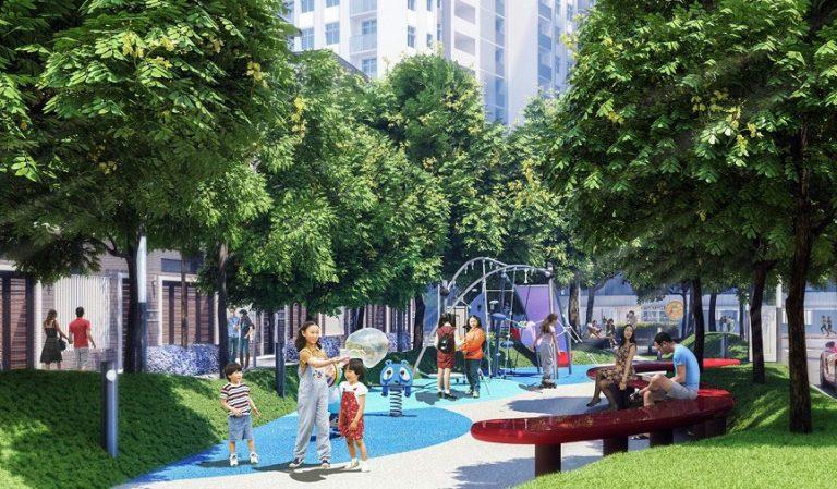 Công viên rợp bóng cây xanh tại HaDo