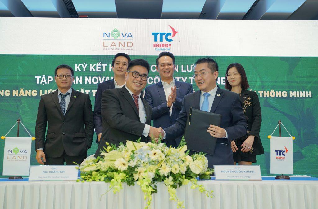 Lễ ký kết với TTC trong dự án Aqua City Novaland